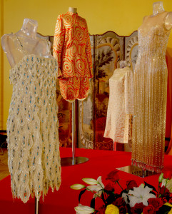 Josephine Baker's stage costumes displayed at her chateau home Chateau des Milandes.
