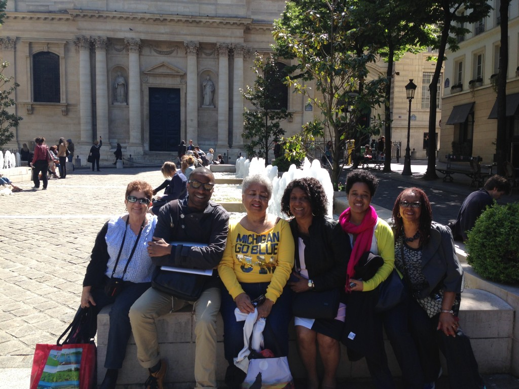 participants on our Paris Tours - one of our Black Paris Tours at the Sorbonne