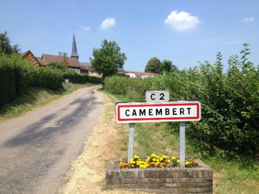 road sign of Camembert along Normandy vacation packages tour