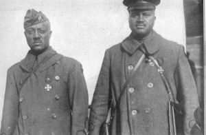 Harlem Hellfighters Vacation Package - two African-American soldiers with Croix de Guerre