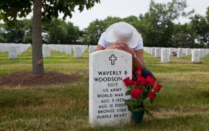 Waverly Woodson, Jr grave, medic in 320th Barrage Balloon Battalion - D-Day