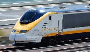 Image of the Eurostar train on Walking The Spirit Tours Day Trips from Paris